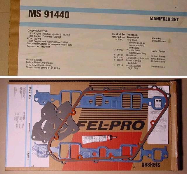 Fuel Injection Throttle Body Mounting Gasket Fel-Pro 60797